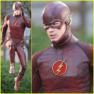 grant-gustin-filming-the-flash-costume-first-look