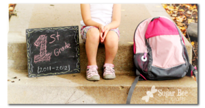 back to school chalkboard sign for pictures