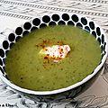 Velouté de courgettes au curry