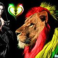 La belle et le lion rasta