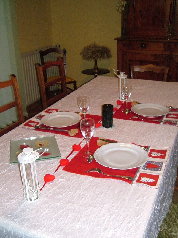 Deco table St Valentin - Crea disa