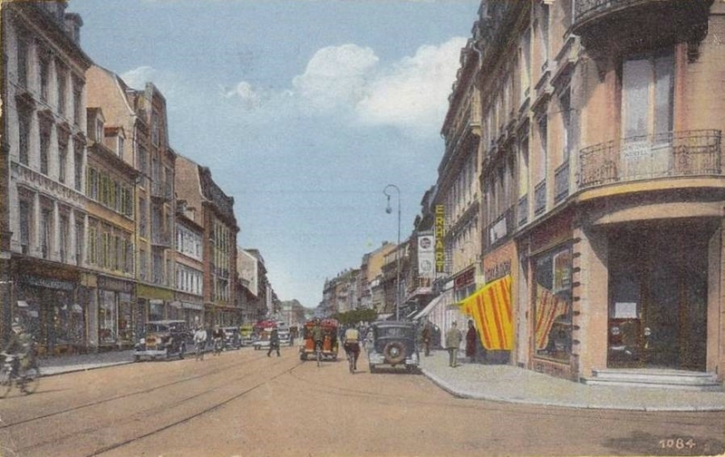 CPA Mulhouse Rue de Colmar
