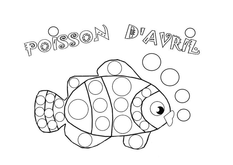 Coloriage poisson avril assistante maternelle argenteuil - Poisson avril coloriage ...