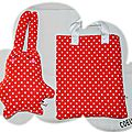 lapin POIS ROUGE TOTE