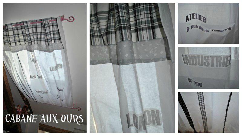 des rideaux pour la chambre de l a la cabane aux ours. Black Bedroom Furniture Sets. Home Design Ideas