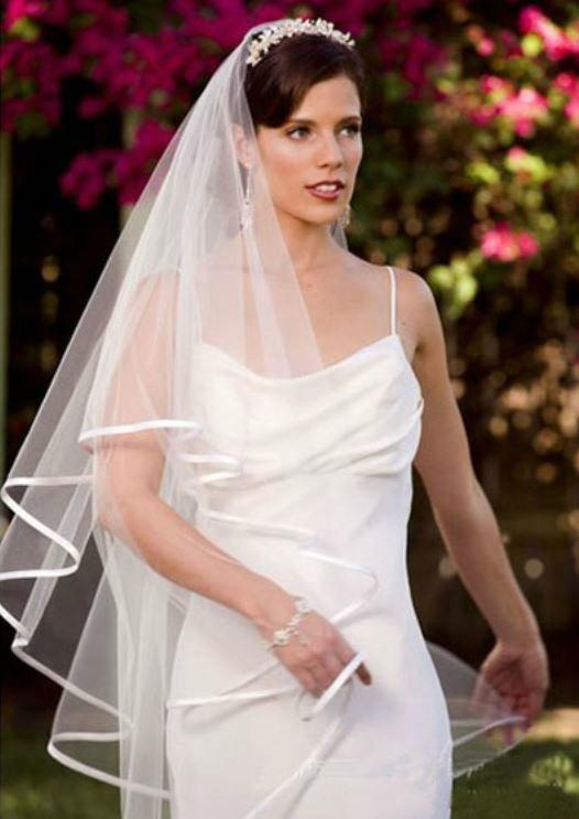 voile de mariée blanc 1m50 (voile n°9)