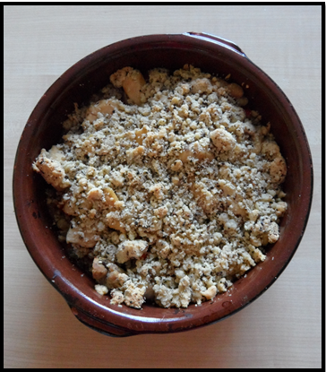 Crumble tomate poulet