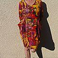Défi burda octobre 2016 .... une robe haute en couleurs ...