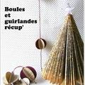 Déco Noël papier/carton: boules, guirlandes & sapin livre