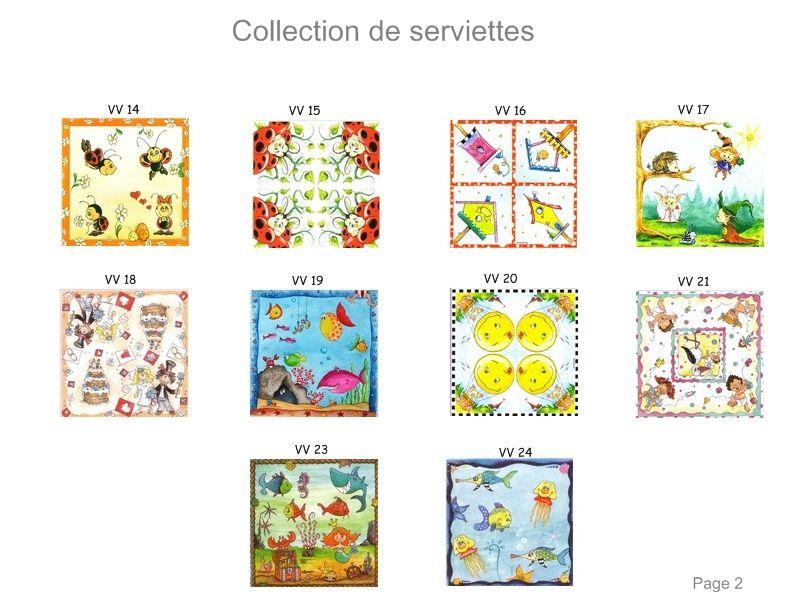 Collection de serviettes 2