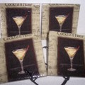 Martini cocktail coasters