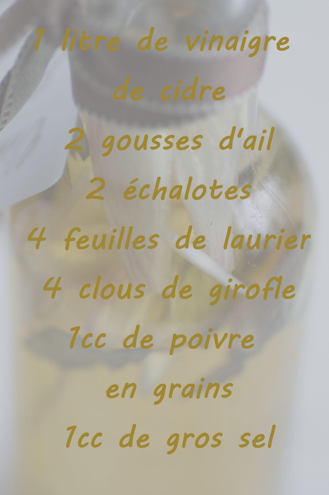 Le 10- Du Vinaigre aux Epices.....