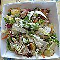 Pomme de terre douce & salade