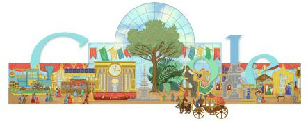 Google 160th anniversary of the first world's Fair