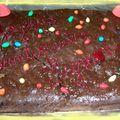 1ère partie de l'anniversaire brownie aux noix de pécan et ricotta