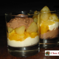 Verrine fruits et chocolat, la poire en vedette...