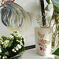 Tableau coq et Vase papier décor tissu créations AF ©Marimerveille
