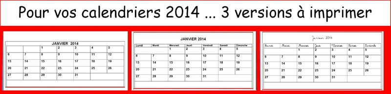 3 versions cal 2014