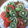 Salade tomate et kiwi