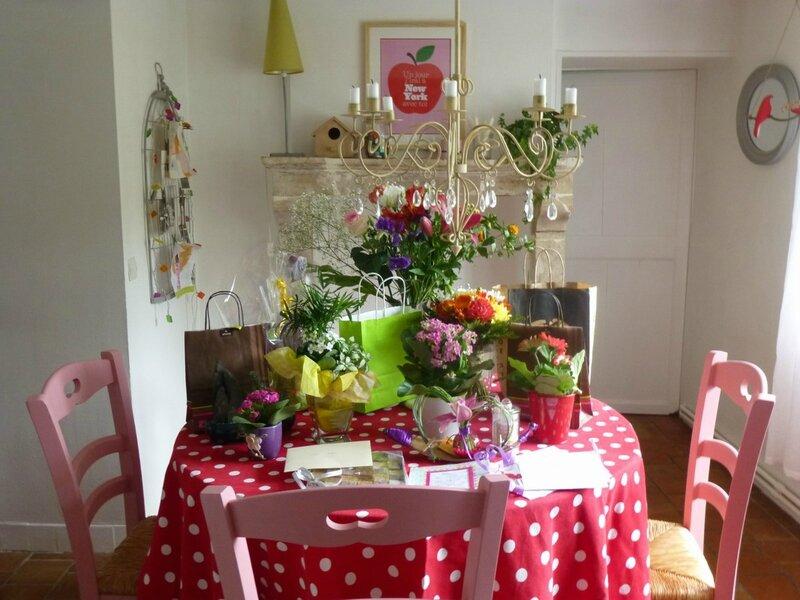 Table fleurie