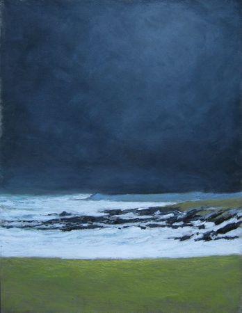 tempête d'avril sur la côte sauvage, Quiberon, 2012 pastel