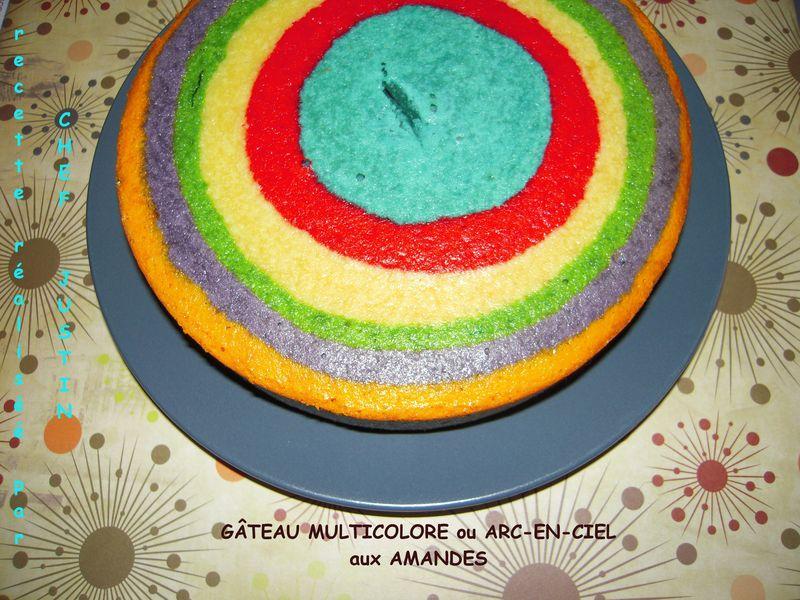 Gateau arc en ciel facile a faire