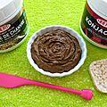 Tartinade végétalienne chocolat-chanvre-konjac (hyperprotéinée, diététique, sans gluten ni sucre ni beurre et riche en fibres)