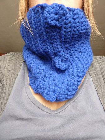 snood bleu terminé
