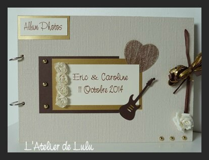 album photo guitare et rose