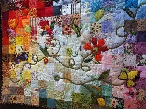 patch fleurs colorées