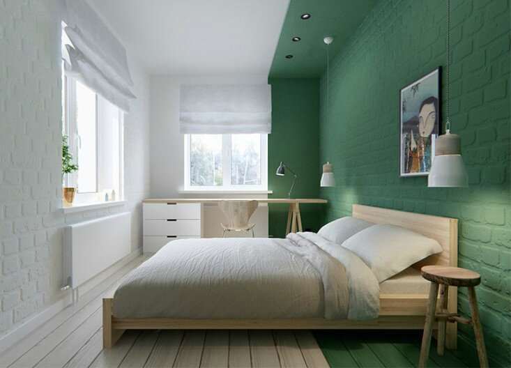 green-color-blocked-bedroom-remodelista