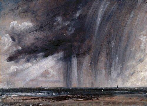 constable- Pluie orageuse sur la mer
