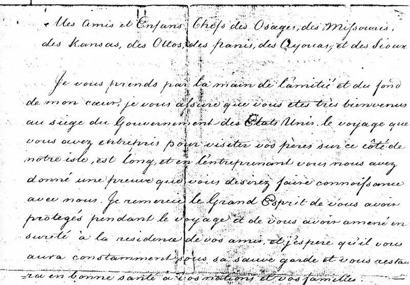 Jefferson début de la page 1