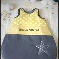 Chambre bébé et décoration en moutarde jaune et gris