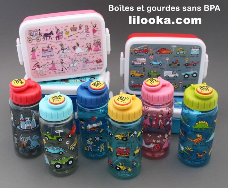 Lunch boxes et gourdes sans BPA
