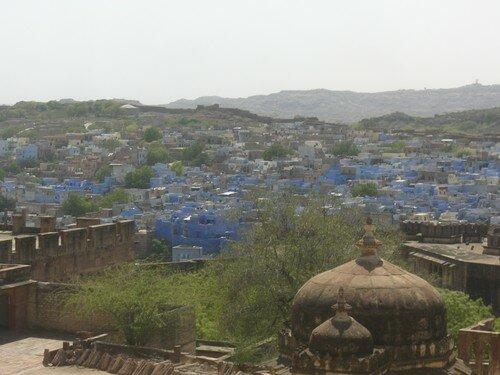 Jodhpur, la ville bleue, depuis la forteresse