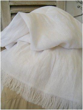 Echarpe lin blanc