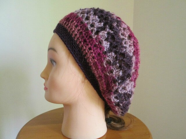 Beret et snood en angora active (3)