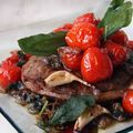 Tournedos  la sauge et ses tomates cerises caramlises