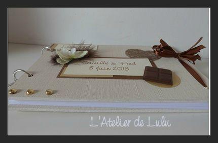 livre d'or sur le theme du chocolat