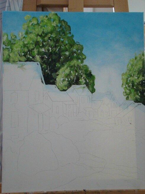 2- les arbres de fond