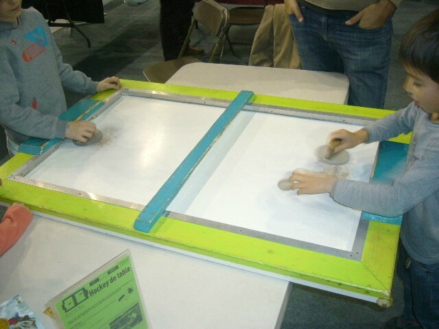 air hockey made in maison