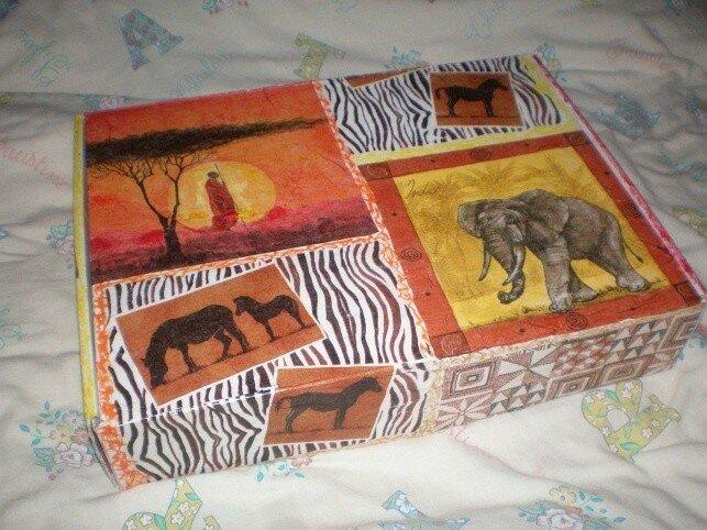 Bo te africaine ana s brico d co - Boite en carton decoree ...