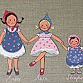 Les poupées, 35x24 cm