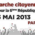 marche citoyenne pour une VI République le 5 mai 2013