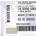 The divine comedy - mercredi 25 janvier 2017 - les folies bergère (paris)