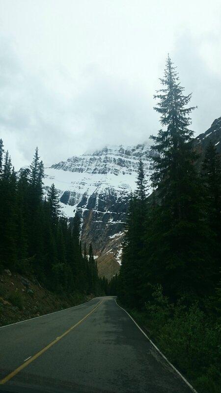 Sur la route du glacier Edith Cavell