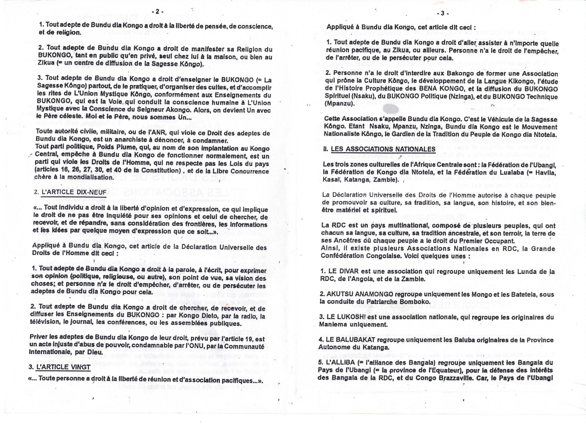 LES DROITS DE L'HOMME ET BDK 2