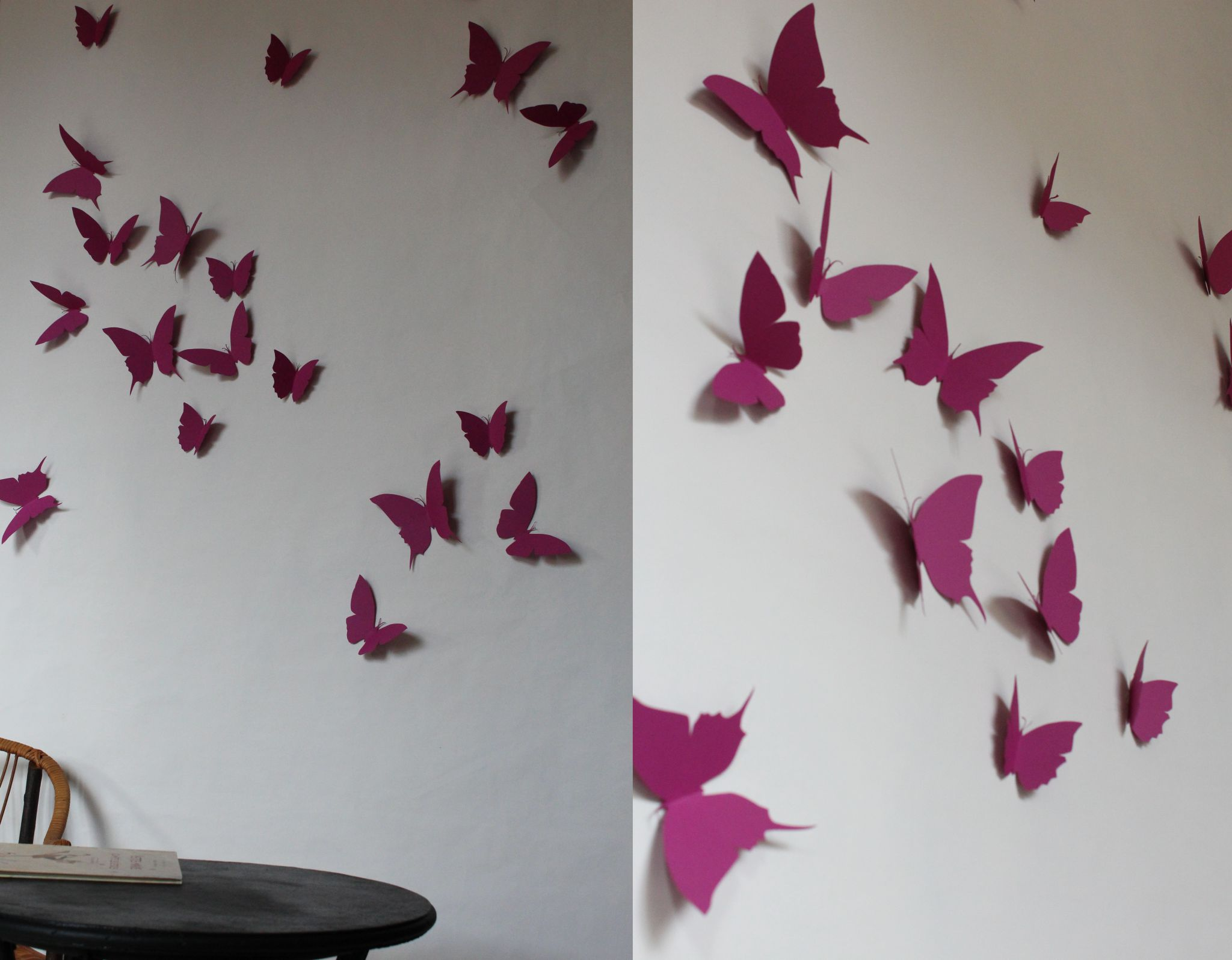 decoration mural papillon