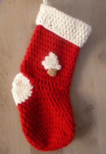 chaussette noel crochet